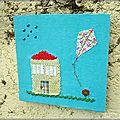 Cadre naif petite maison