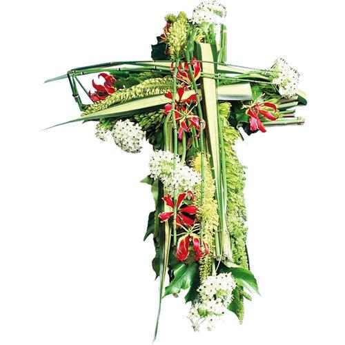croix en fleur