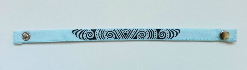 Bracelet tissu zentangle (1)