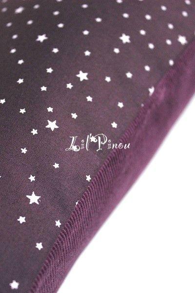 housse de coussin velours d'étoiles