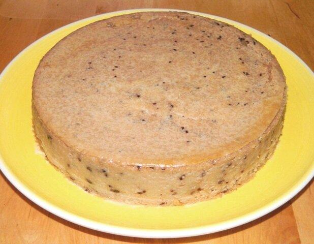 Gâteau semoule vanille chocolat (sans glaçage)