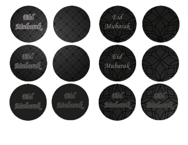 cupcake toppers noir
