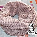 Snood rose brillant