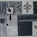 Tableau baroque black and white