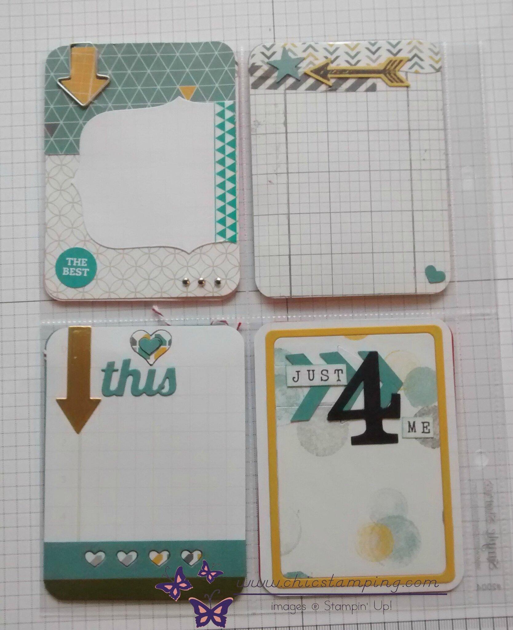 DIY - project life cards - serie arrows