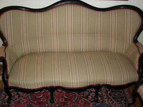 Canapé Napoléon III - Photo de Réfection de sièges - J\'essaie des Lys