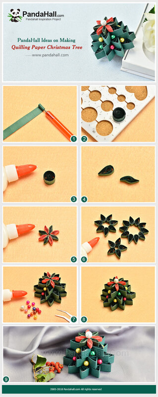 PandaHall-ideas-on-making-Quilling-Paper-Christmas-Tree