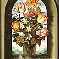 'flowers in a niche' by ambrosius bosschaert the elder (1573-1621)
