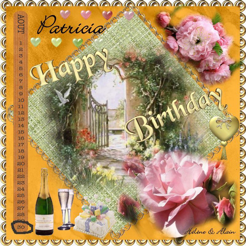 Joyeux Anniversaire Patricia L Univers De Patounette Et Ses Amis Es