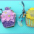Let's celebrate week on tando's blog / mini-albums cupcakes