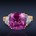 Pink sapphire, pink spinel and ceylon ruby rings from jacob & co