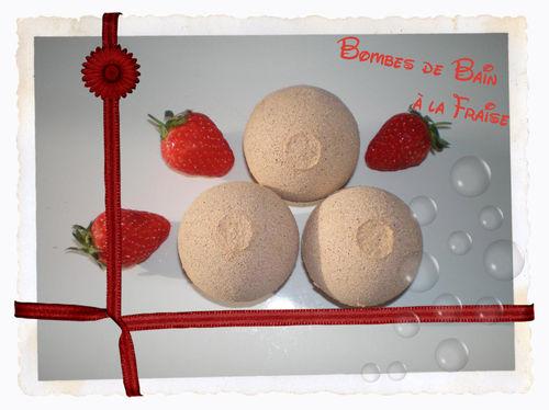 Bombe de bain fraise copie