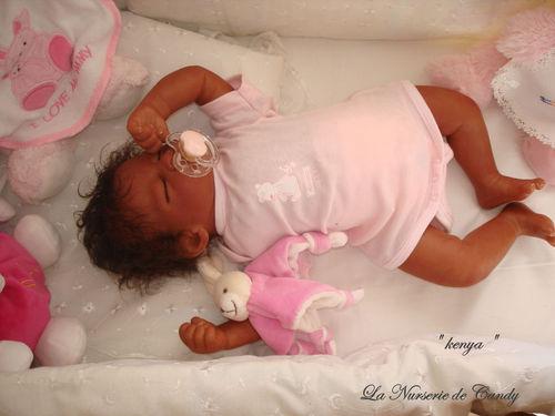 fille bébé reborn noir