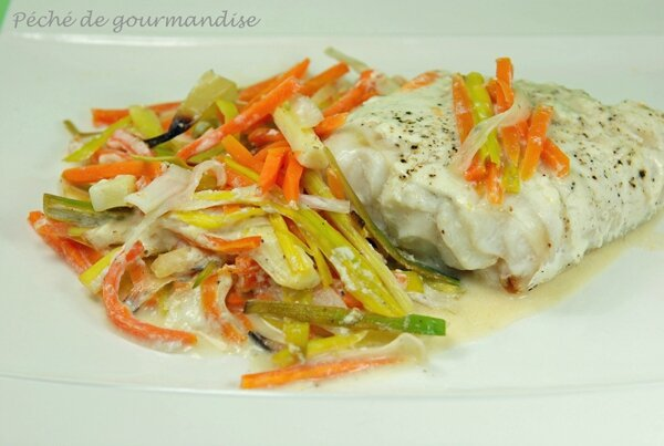 Filet de poisson la julienne de l gumes p ch de - Cuisiner filet de julienne ...