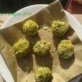 Petites boules de fromage pistaches- citron