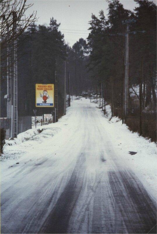 route de Bos carat sous la neige