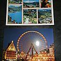 Echanges cartes postales région en binômes
