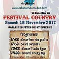 Samedi 18 novembre 2017 - festival country à st estephe
