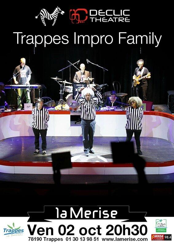 Affiche Declic Theatre Trappes impro family