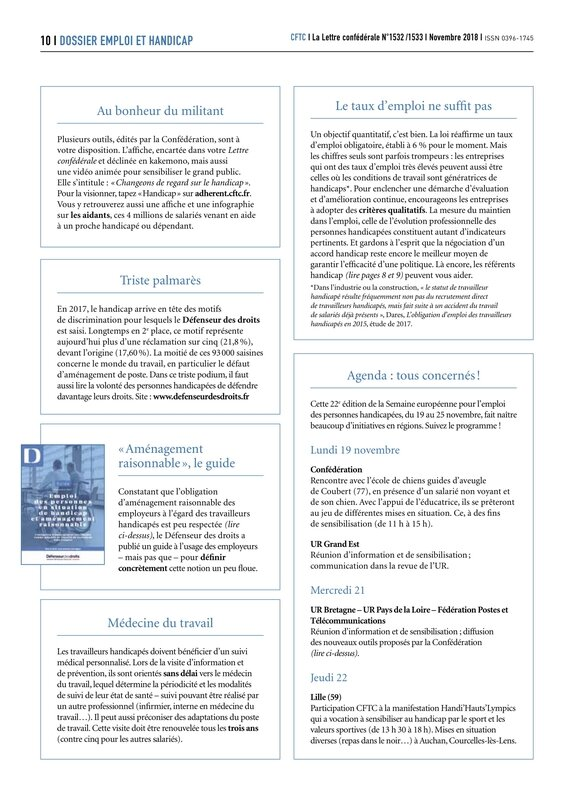 2018 11 LETTRE CONFEDERALE CFTC 1532 - 1533-10