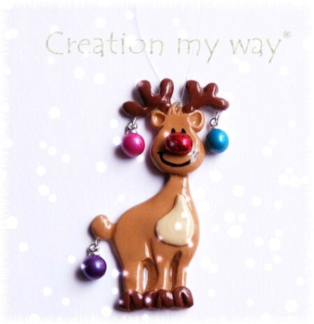 Challenge d co de no l en p te polym re cr ation my way - Decoration noel pate fimo ...
