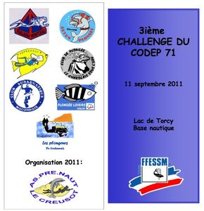 2011 = 3eme Challenge de nage