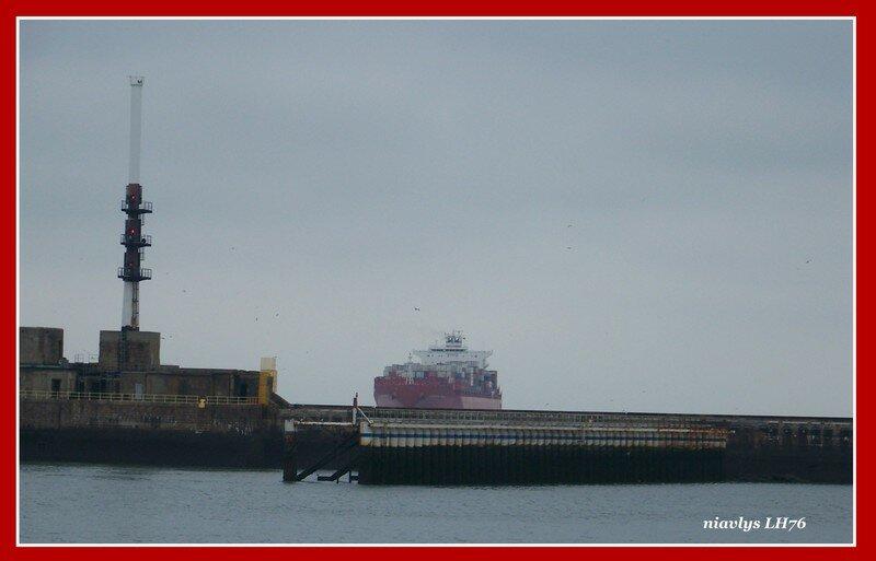L'Alianca Maua approche du port du Havre