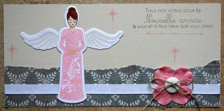 carte ange rose