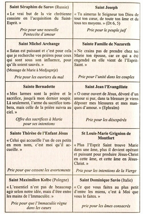 Saints et Saintes 3