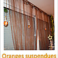 Oranges suspendues