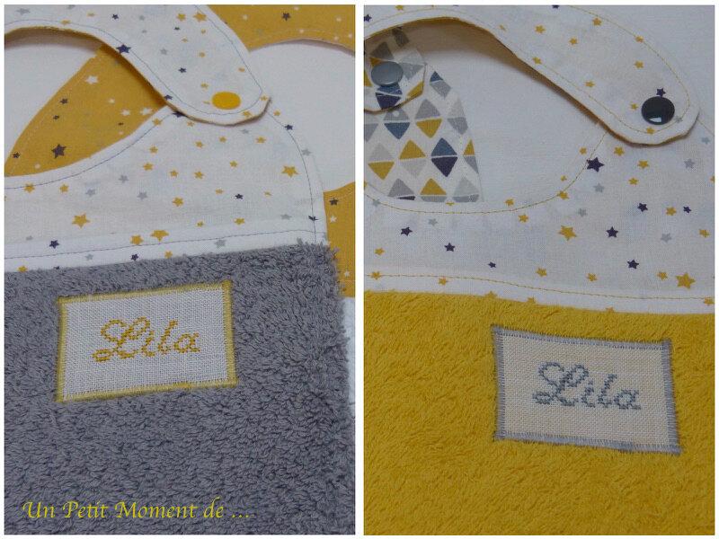 Ensemble naissance jaune et gris 7