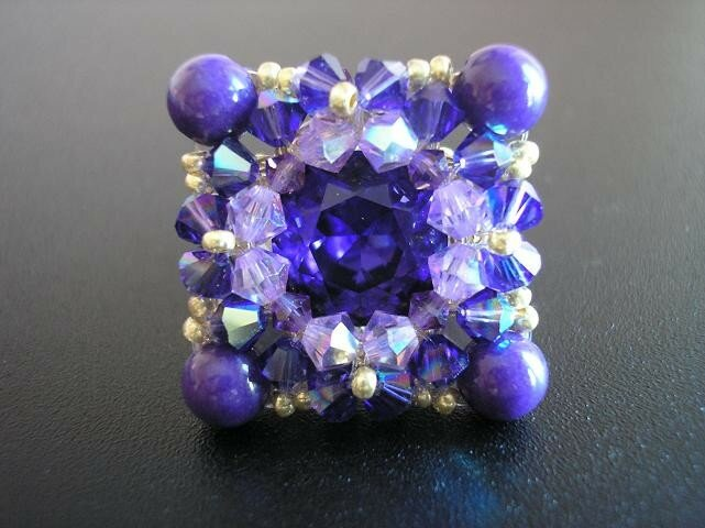 Bague toffee purple velvet