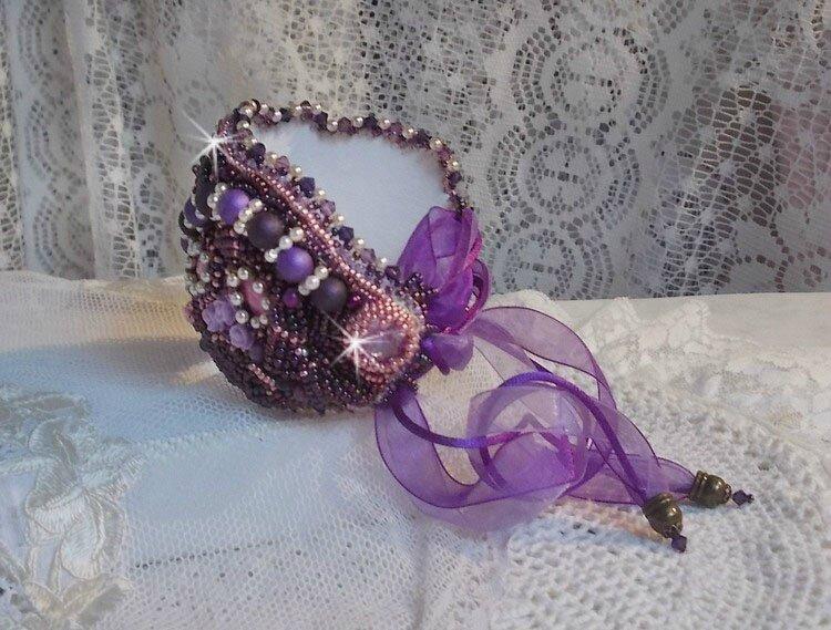 Bracelet Chinese Purple Stone 2-1