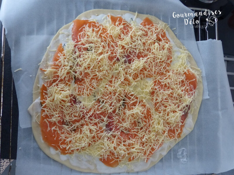Pizza au saumon fumé (2)