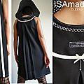 Robe trapèze Chasuble Noire & Blanche crème Graphique Couture tendance Imprimé vintage 60