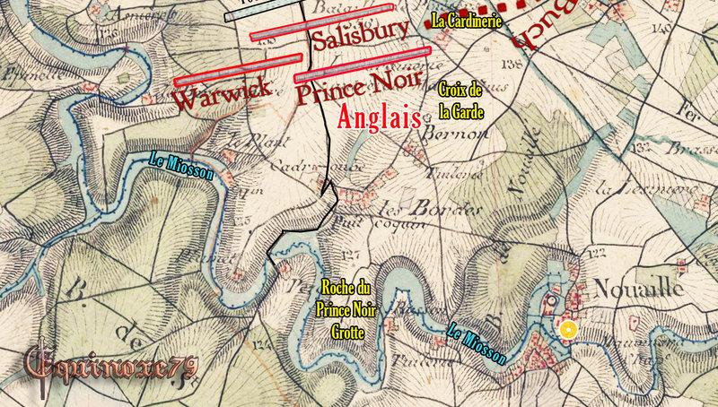 Plan du Champ de la Bataille de Poitiers Maupertuis 1356 b