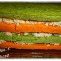 Gateau de legumes aux surimi et crevettes