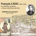 Un colloque international sur françois cadic (1864-1929) : collecteur vannetais, recteur des bretons de paris