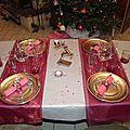 Table rose et argent