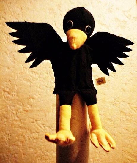 Marionnette à main Corbeau