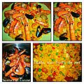La paëlla valenciana (principalement aux fruits de mer)