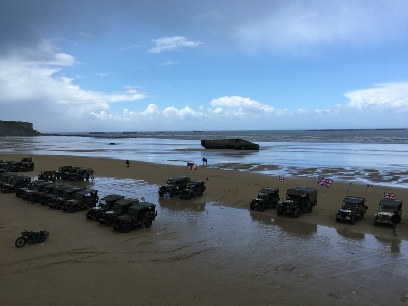 DDAY Arromanches 6 juin 2017 port artificiel port Mulberry Winston