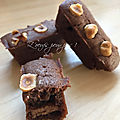 Cake cacao sans œufs, coeur gianduja