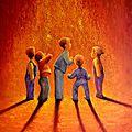 Poussière d'étoile - Acrylique sur toile - 100x73cm - Disponible