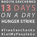Nadia savtchenko au 13ème jour de sa grève de la faim et de la soif