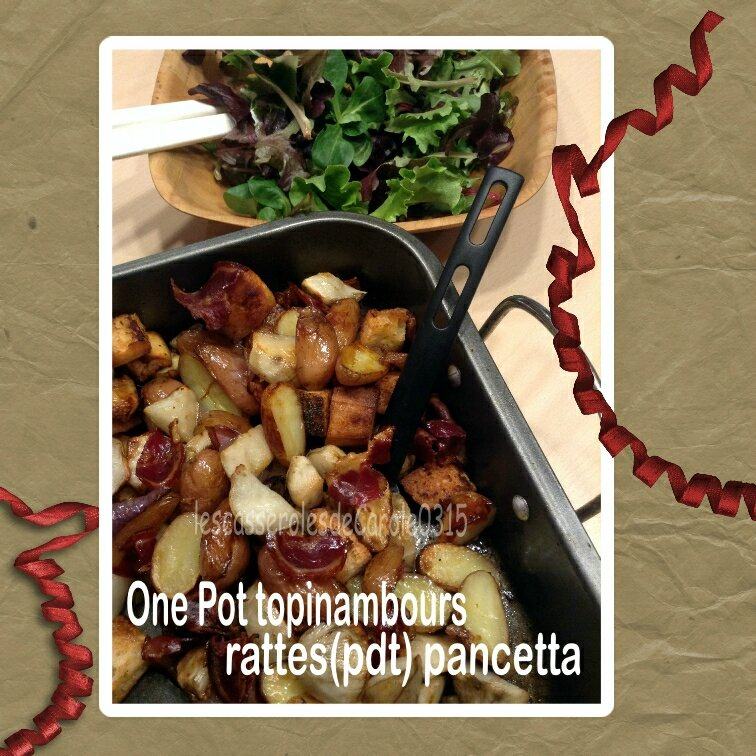 one pot topinambours rattes pancetta (scrap)