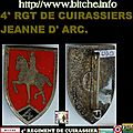 4° RGT DE CUIRASSIERS, JEANNE D' ARC