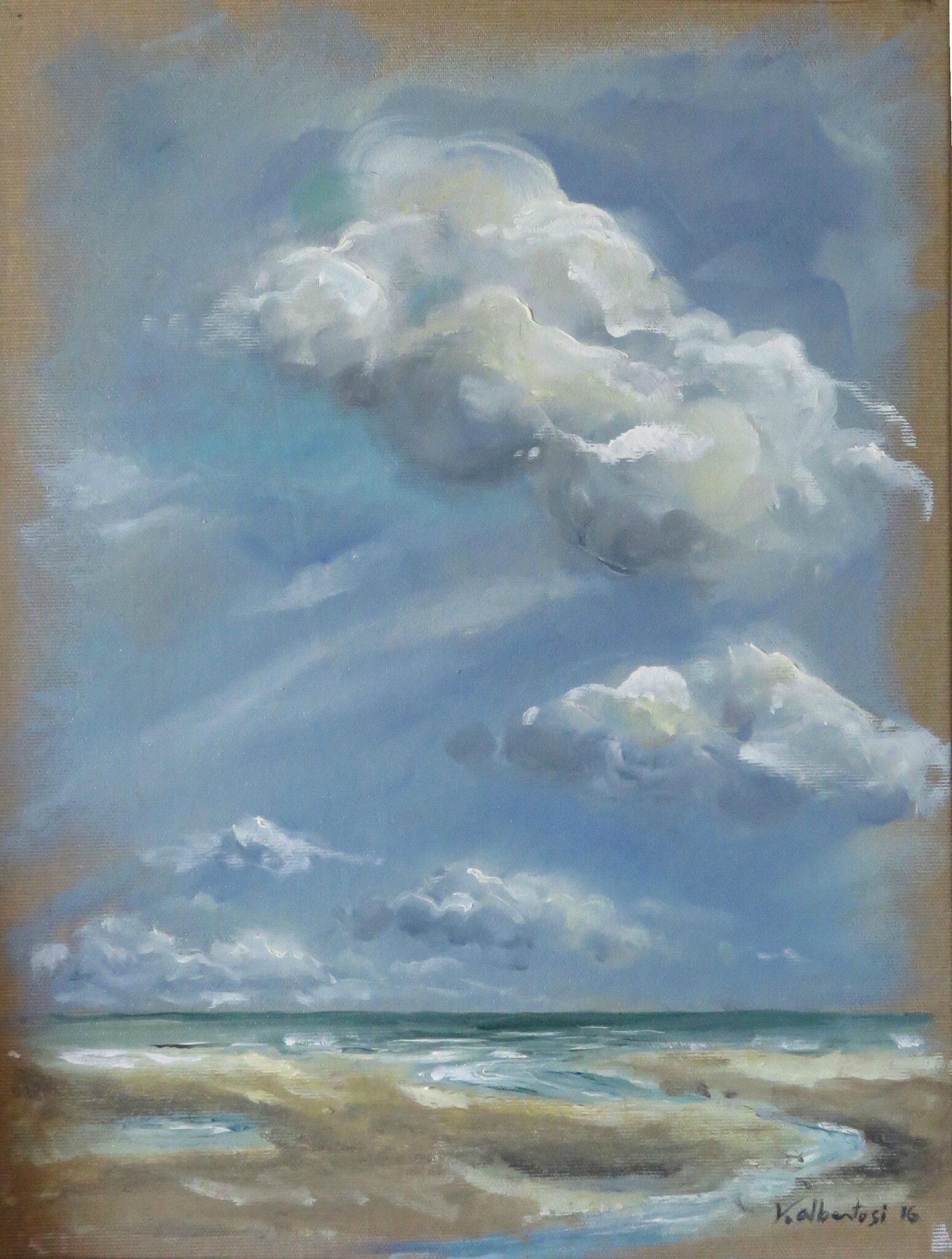 peinture mer nord pas de calais tableau mer plage valerie albertosi
