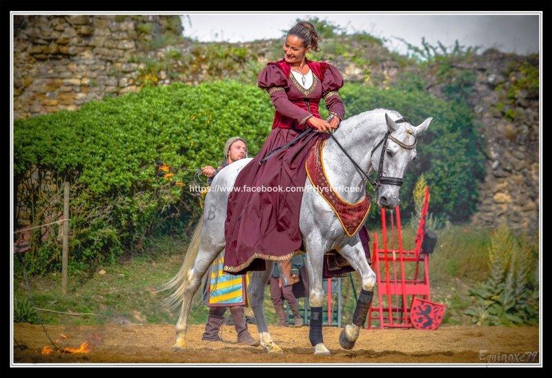 dressage spectacle équestre fête médiévale du Château de Talmont en Vendée (1)