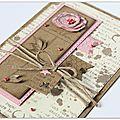 Je continue sur ma lancée... des cartes en florilèges design